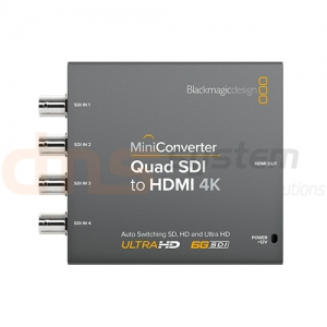 Mini Converter Quad SDI to HDMI 4K